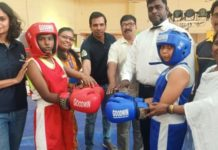 Founder of Heed India: Mr Jignesh Barasara guiding students for sports boxing Tournament